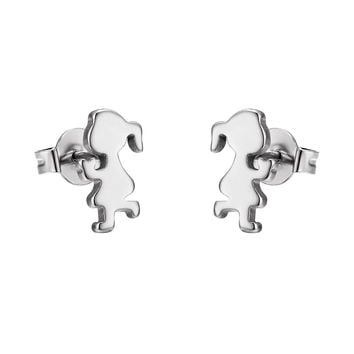Stainless Steel LIttle Girls Earrings Studs Silver Tone 11mm Kids Jewelry