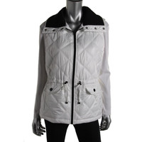 Style & Co. Womens Collar Lined Outerwear Vest