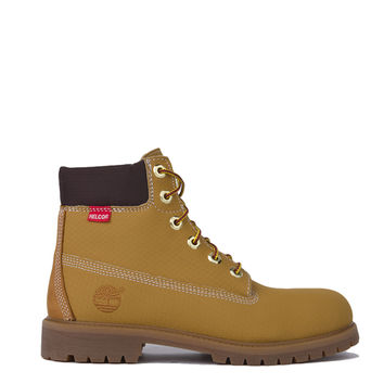 Timberland 6 Inch Premium Helcor Scuff Proof Weatherproof Boots in Wheat Leather