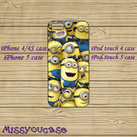 iphone 4 case,iphone 4s case,cute iphone 4 case,iphone 5 case,cute iphone 5 case,Despicable Me Minion,ipod 5 case,in plasitc and silicone.