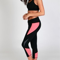 Coral Workout Capri Leggings