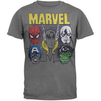 Marvel Heroes - Faces Soft T-Shirt