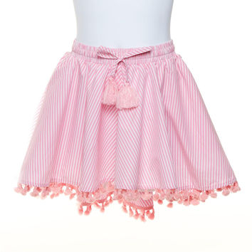 Kids Circle Skirt With Tassels