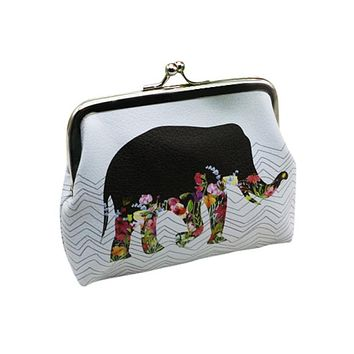 Women Wallets Elephant Pattern Female Wallet Card Holder Coin Purse China wallet