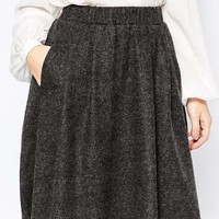 Y.A.S Evita Wool Skirt at asos.com