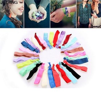 30Pcs Ponytail Holder Knot Elastic Hair Tie Hairband printed colorful Bracelets knotted headwear hair accessories