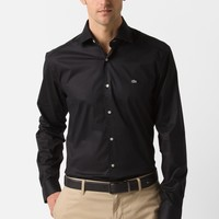 City Long Sleeve Spread Collar Stretch Poplin Woven Shirt