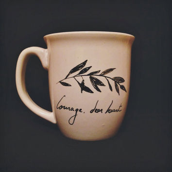 "Chronicles of Narnia ""Courage, dear heart"" - Hand designed Mug"