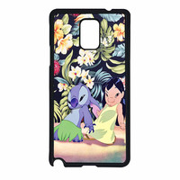 Lilo And Stitch Dancing Floral Samsung Galaxy Note 4 Case