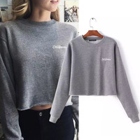 Pullover Winter Alphabet  Long Sleeve Sweatshirt [9307411332]