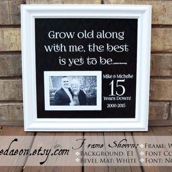 Anniversary Gift, Wedding Sign, Wedding Anniversary Gift, Bride and Groom Gifts, 15th Anniversary gift, Wedding, Love, Anniversary, 15x15