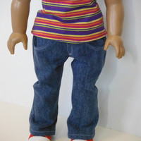 Boot Cut Jeans for American Girl or other 18 inch dolls