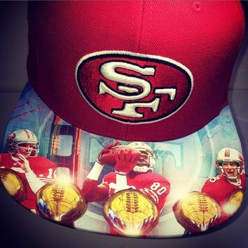 San Francisco 49ers Authentic New Era Snapback or Fitted with Custom Brim