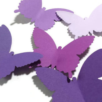 50 Large Purple And Lavender Butterfly Die Cuts,Butterfly Punch,