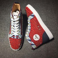 DCCK2 Cl Christian Louboutin Louis Spikes Style #1901 Sneakers Fashion Shoes