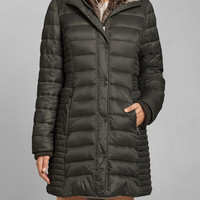 Faux-Fur Lined Puffer Parka