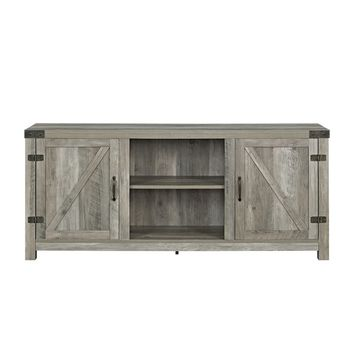 58-inch Rustic Barn Door TV Stand with Side Doors | Overstock.com Shopping - The Best Deals on Entertainment Centers