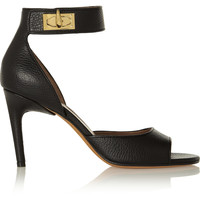 Givenchy - Shark Lock textured-leather sandals