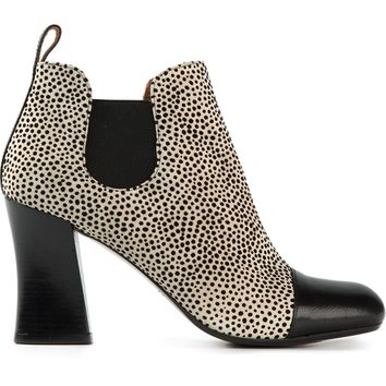 Chie Mihara animal print ankle boots