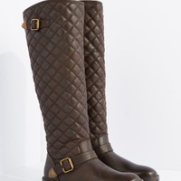 Brown Quilted Knee High Boot By Qupid   Knee High   rue21