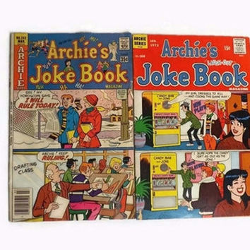 2 Vintage Archie Comics, 1972 Issue 168 and 1978 No 242
