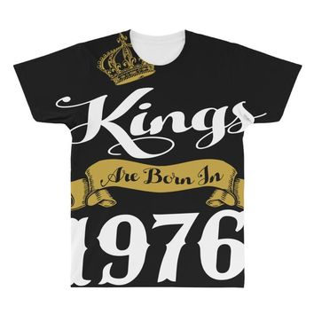kings are born in 1976 All Over Men's T-shirt