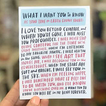 When You're Gone Empathy Card
