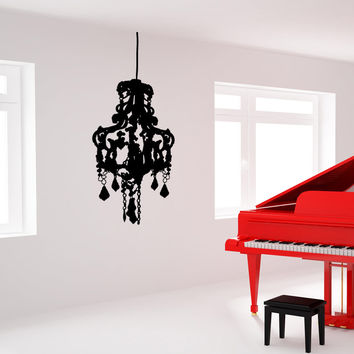 Vinyl Wall Decal Sticker Fancy Chandelier #OS_MB707