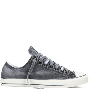 Converse - Chuck Taylor All Star Washed Canvas - Black - Low Top d89eaf79aca8