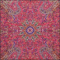 TrippyStore.com - Red - Paisley Star - Small Tapestry