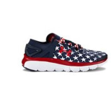 Under Armour Boys' Grade School SpeedForm Fortis Flag Graphic Running Shoes