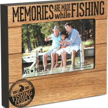 Memories are made while Fishing Picture Photo Frame