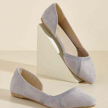 This Too Shall Sass Flat in Pebble | Mod Retro Vintage Flats | ModCloth.com