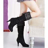 Ladies Boots over the knee leather womens fashion high heels sexy WL = 1946432580