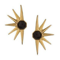 Candyspell — GOLD SPIKE WITH BLACK CRYSTAL EARRINGS