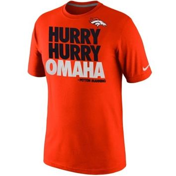 Nike Denver Broncos Hurry Omaha T-Shirt - Orange