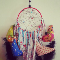 "She is in Love with Her Chickens Dream Catcher, One of a Kind, 5"" Handmade, Native Inspired, Gift for her, Gift for him, Bed Decor"