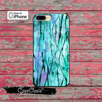 Mint Blue Watercolor Streaks Art Tumblr Cute iPhone 5 5s 5c Case and iPhone 6 and 6 Plus 6s and 6s Plus and iPhone SE iPhone 7 Plus Case