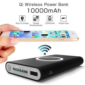 On The Go Wireless Phone Charger And Power Bank  For iPhone and Samsung Phones