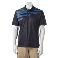 Grand Slam Classic-Fit Chest-Striped Performance Golf Polo