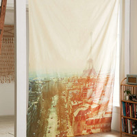 Alicia Block Paris Scene Tapestry - Urban Outfitters