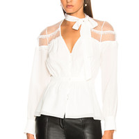 Cinq a Sept Peyton Top in Ivory | FWRD
