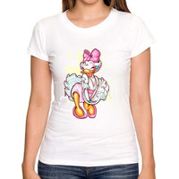 Daisy Duck in Marilyn White Dress  Men or Womens T-Shirt