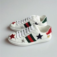 Gucci Ace Snake Embroidered White Low-top Sneaker