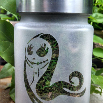 Sally Etched Glass Stash Jar- Nightmare Before Christmas - Gifts for Her -Best Friend Gift