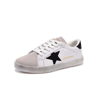 Brand Women Shoes Designer 2017 Italy White Genuine Leather Casual Flats Shoes Sport Superstar Breathe Shoes Footwear Zapatillas
