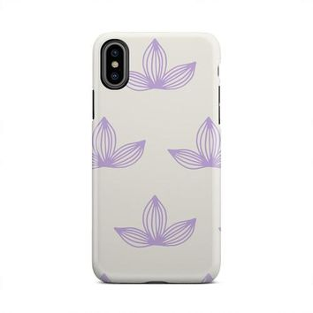 White And Purple Cute Three Petal Flower iPhone Case