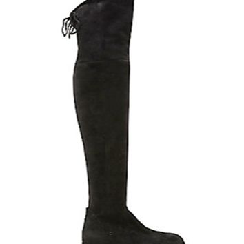 Women's Shoes-Dolce Vita-Neely Black Stella Suede Boots
