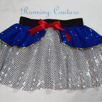 Donald Duck inspired Sparkle Running Misses round skirt