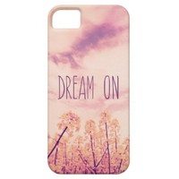 Purple Yellow Vintage Flowers Summer Sky Photo iPhone 5 Cover